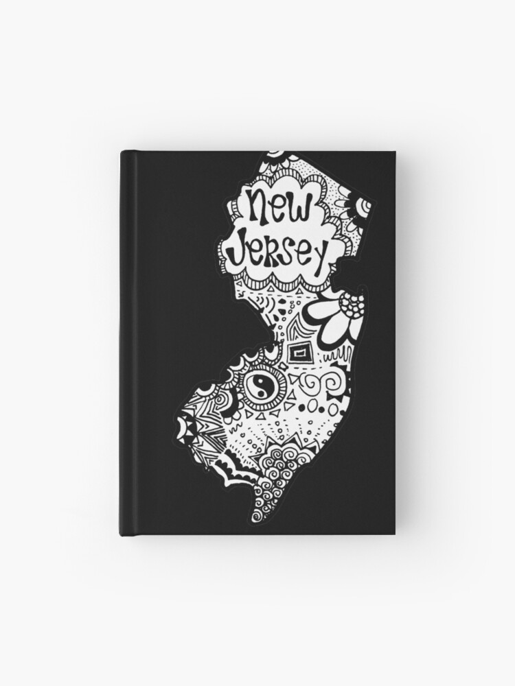 Hipster New Jersey Outline | Hardcover Journal