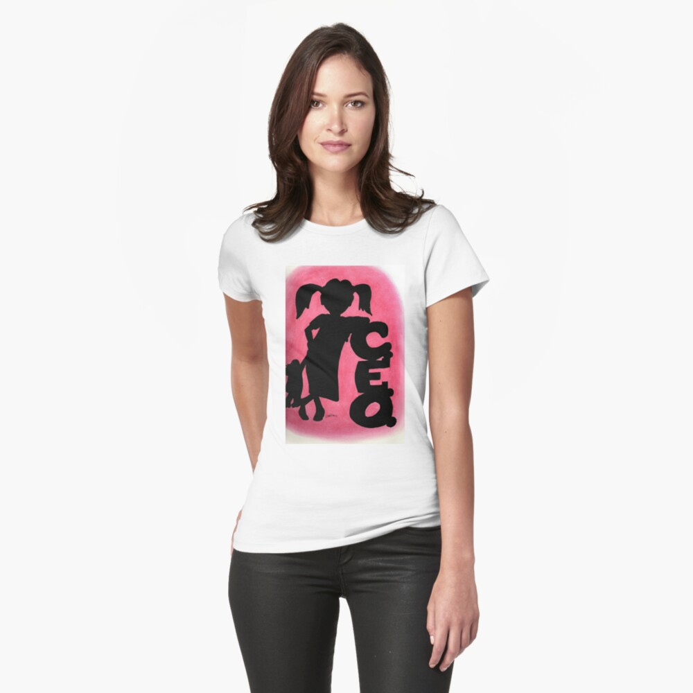 Pink CEO Fitted T-Shirt