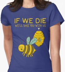 Save The Bees T Shirt Women's Fitted T-Shirt