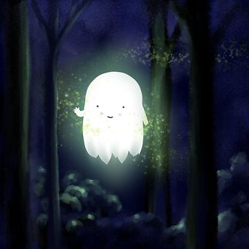 Little Ghost in the woods by Immy