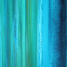 Turquoise Abstract II by Kathie Nichols