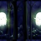 Little Ghost in the woods by Cartoon Neuron