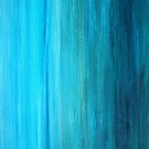 Turquoise Abstract I by Kathie Nichols