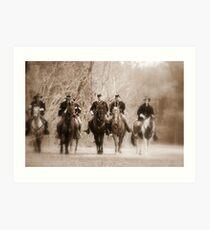 Heading towards battle Art Print