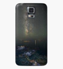 Milky way at a rocky sea coast in Syros island, Greece Case/Skin for Samsung Galaxy