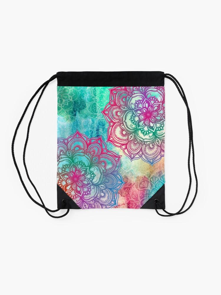 Alternate view of Round and Round the Rainbow Drawstring Bag