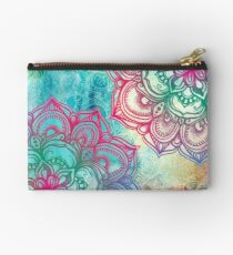 Round and Round the Rainbow Zipper Pouch
