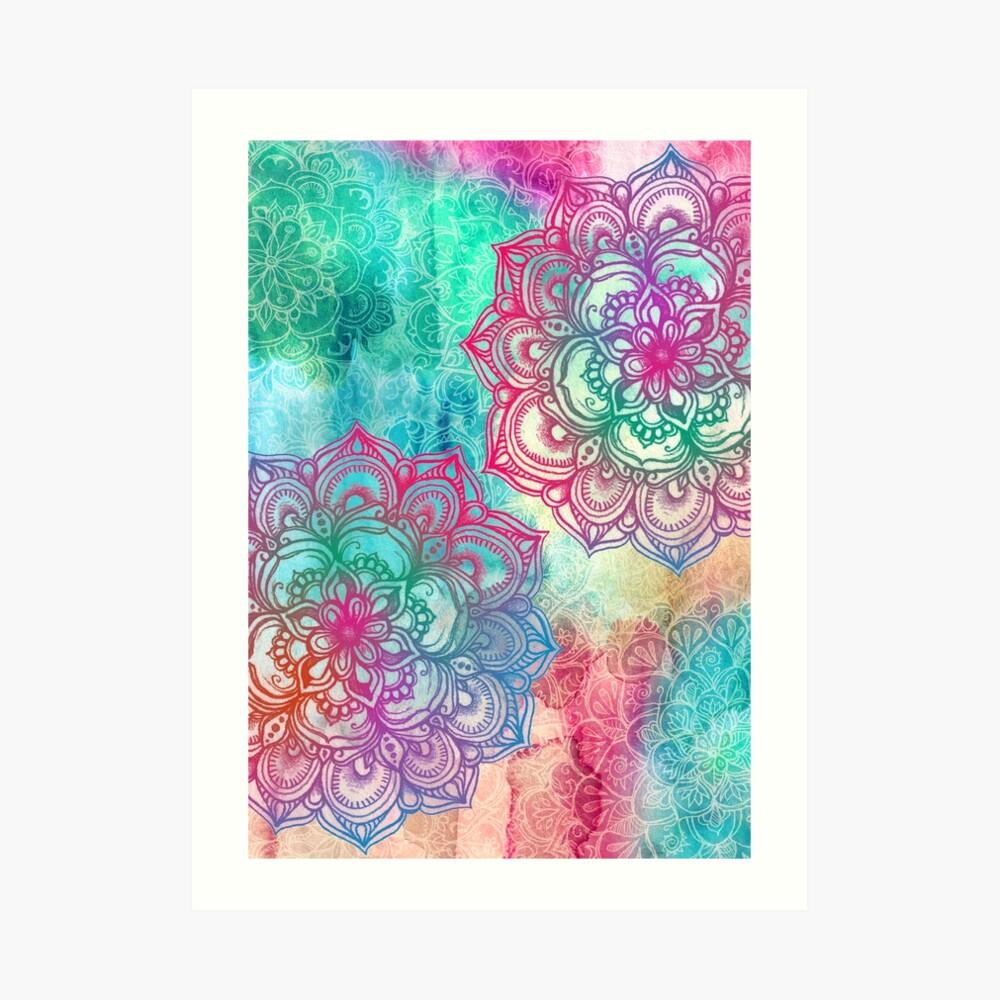 Round and Round the Rainbow Art Print