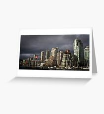 Angry Clouds Greeting Card