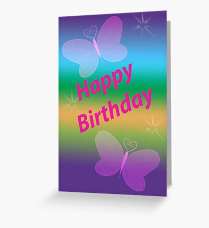 Happy Birthday Girl Card Greeting Card