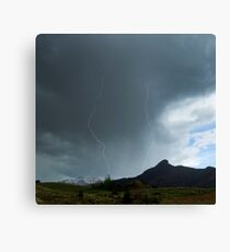 Lightning Around Ptarmigan Mountain Canvas Print