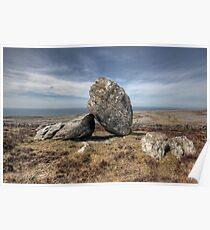 Burren boulders Poster