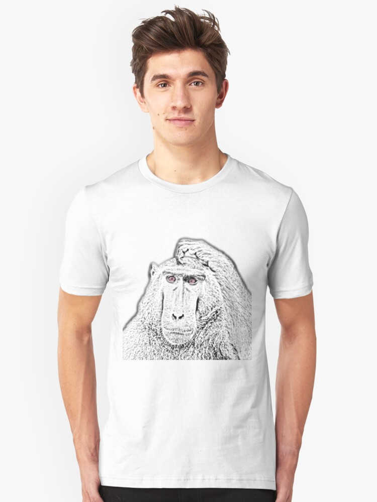 Intelligent Monkey Unisex T-Shirt Front