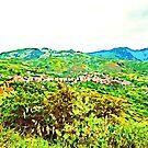Landscape with Verbicaro and Pollino mountain by Giuseppe Cocco