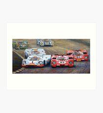 Ferrari vs Porsche 1970 Watkins Glen 6 Hours Art Print