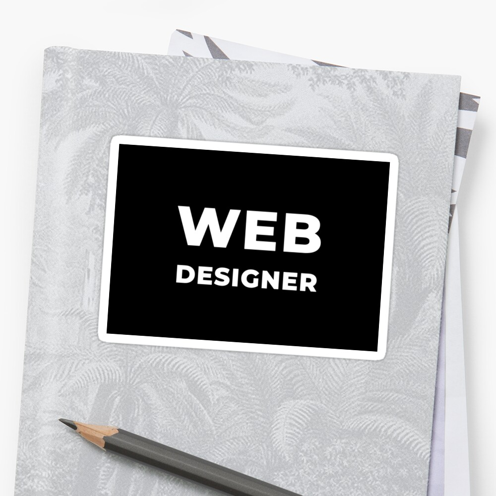 Web Designer Sticker