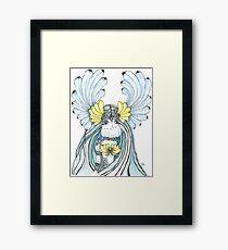 Watercolor and ink Greek Goddess Framed Print