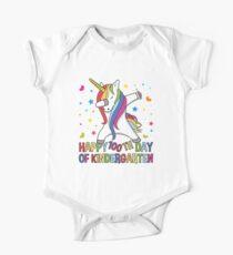 Happy 100 Days Of School Student Teacher Unicorn Gift Baby Body Kurzarm