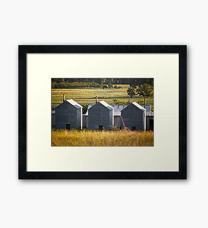 3 sheds Framed Print