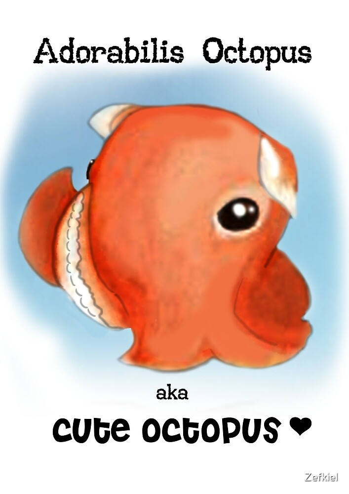 Cute Octopus by Zefkiel