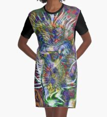 thorny flower abstract art Graphic T-Shirt Dress