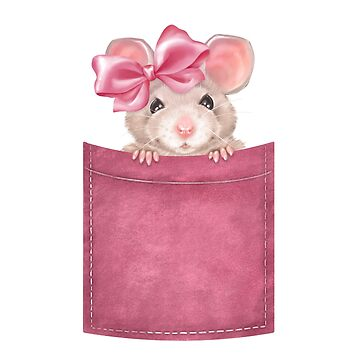 Mouse in pocket. Pink version by Gribanessa
