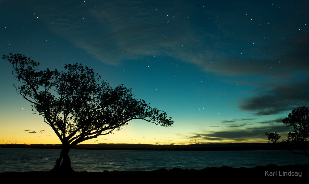 Starry Night, Lake Macquarie, Australia by Karl Lindsay