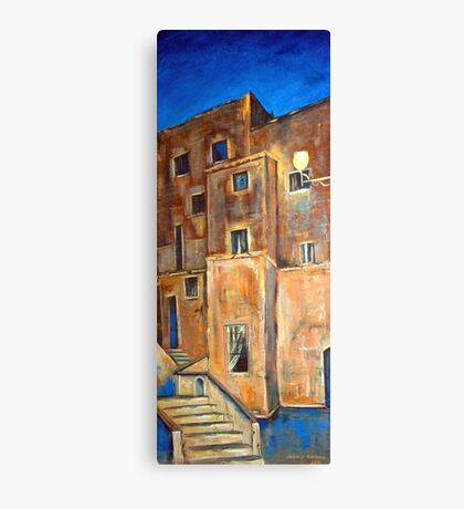 Back alley by night Canvas Print