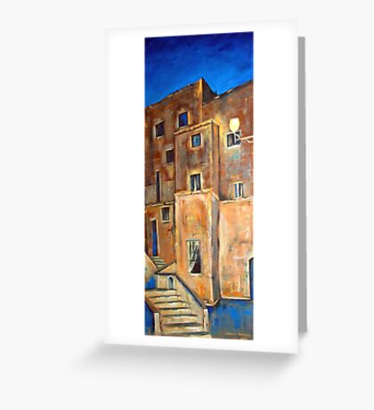 Back alley by night Greeting Card