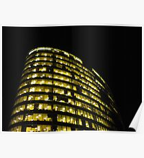 Cityscapes - Nighttime Golden Glow Poster