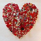 Loaded Red Heart by PrairieSparrow