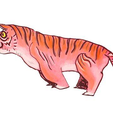 Watercolor Tiger by HungryRam45