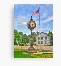 Memorial Clock Canvas Print
