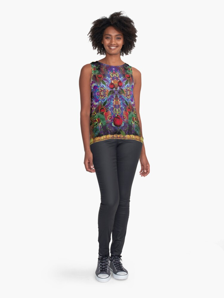 Alternate view of Vision with Tulips Sleeveless Top
