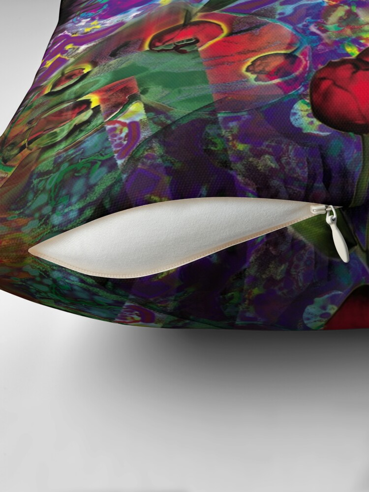 Alternate view of Vision with Tulips Throw Pillow