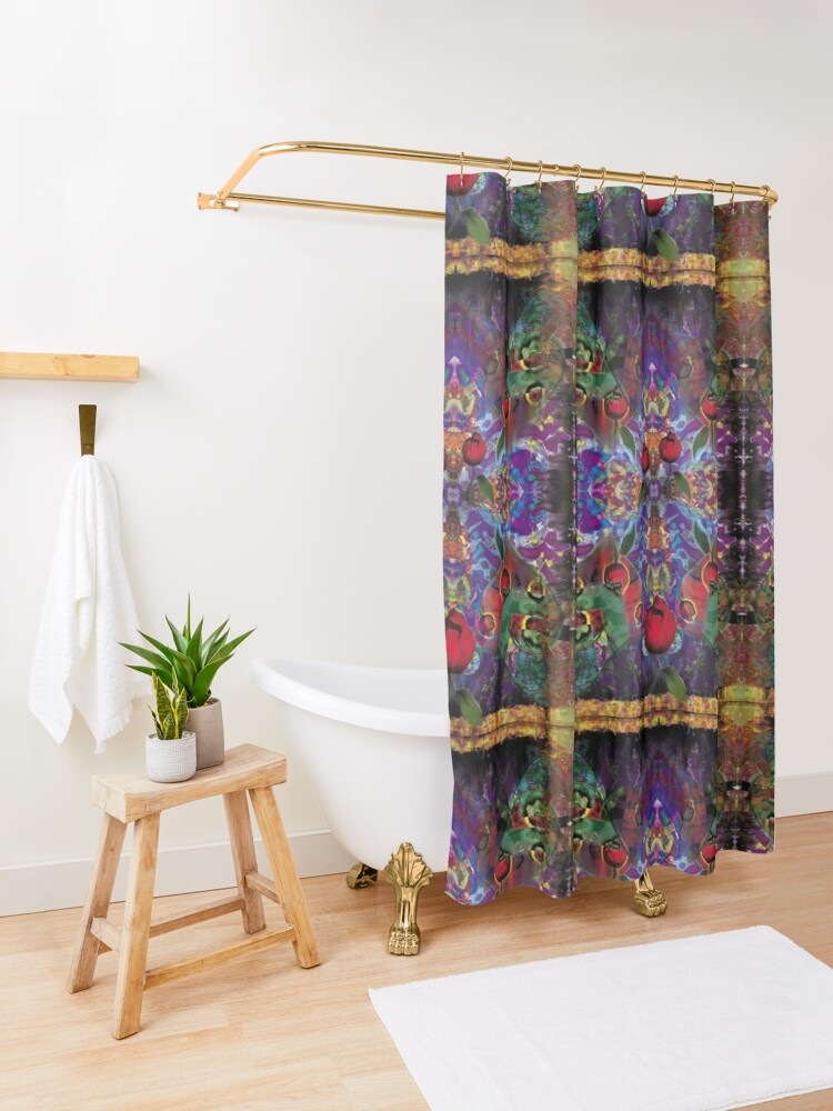 Alternate view of Vision with Tulips Shower Curtain