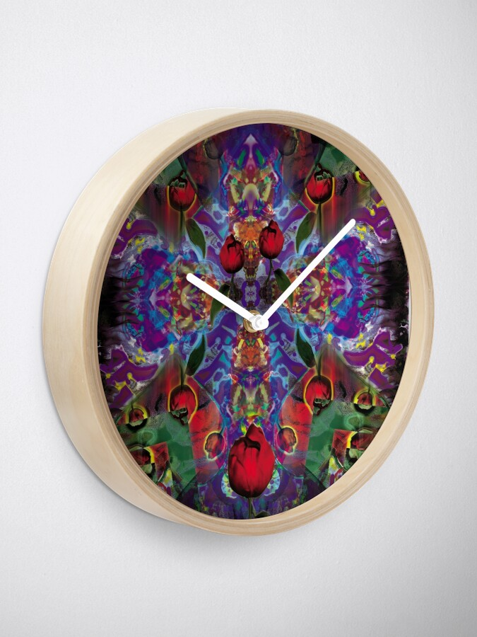 Alternate view of Vision with Tulips Clock