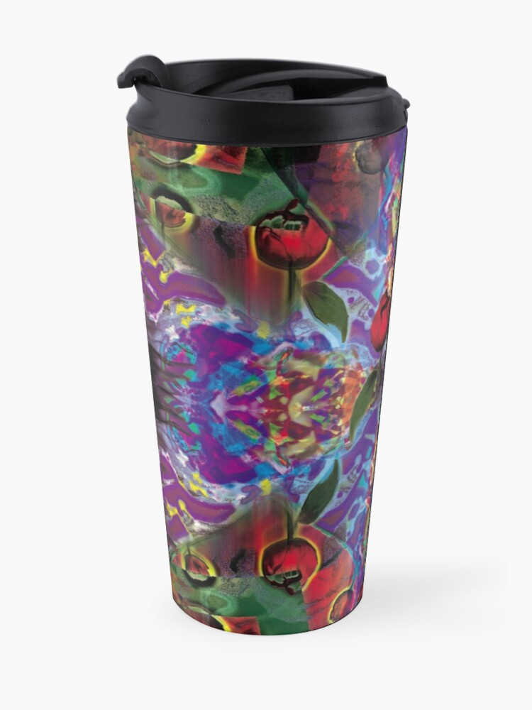 Alternate view of Vision with Tulips Travel Mug