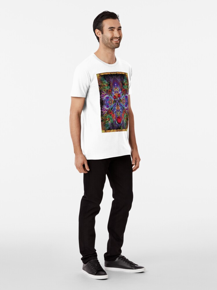 Alternate view of Vision with Tulips Premium T-Shirt