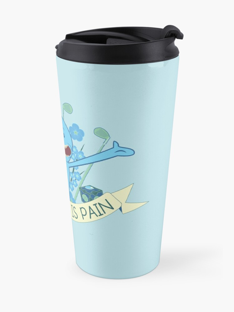 Alternate view of Existence is Pain Travel Mug