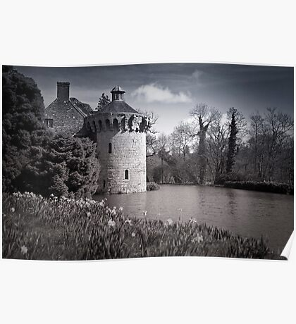 Moody Scotney Castle Poster