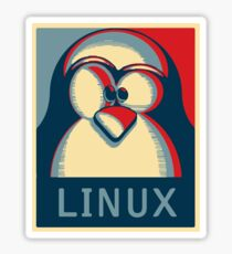 Linux tux penguin obama poster logo Sticker