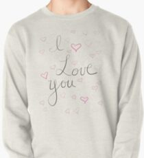 I Love You Pattern Pullover