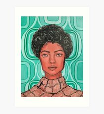 Lámina artística Chica de los 70