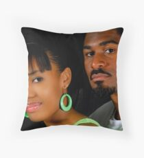 African American Couple Throw Pillow