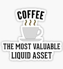 Accounting Coffee Liquid Assets Sticker