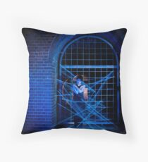 In The Spider's Web Throw Pillow