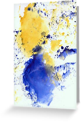 Blue and Gold Splotch by Tiare Smith