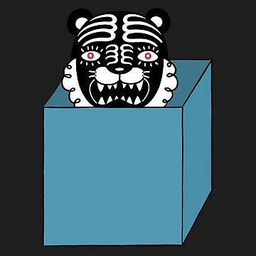 Black tiger is in the blue box by RYURAKUDO