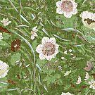 Noir Floral (apple green) by Esther  Fallon Lau